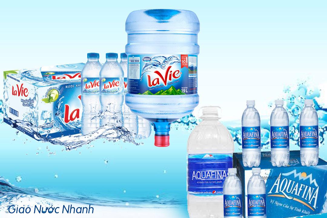 Nước lavie và aquafina