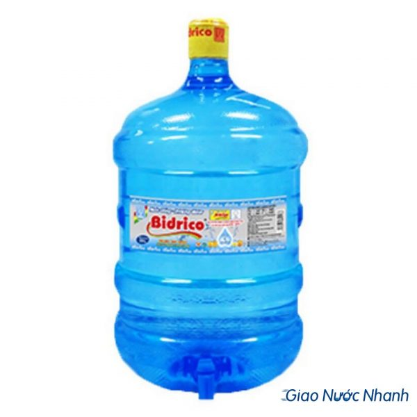 Nước tinh khiết Bidrico 19l bình vòi