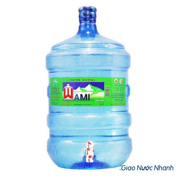 Nước tinh khiết Wami bình 19L có vòi
