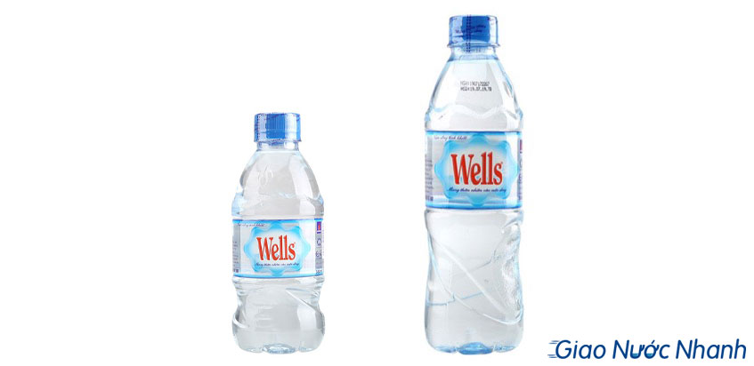 Chai nước Wells 350ml và 500ml