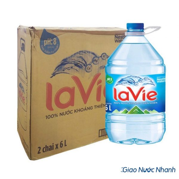 Nước khoáng thiên nhiên Lavie chai 6l